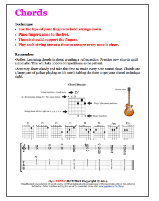 Senior Guitar Program - G4 GUITAR School Ashford
